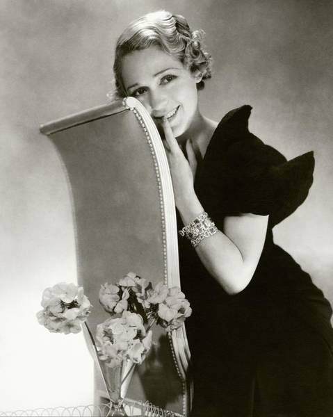 Vase Photograph - Mary Pickford On A Chair by Edward Steichen