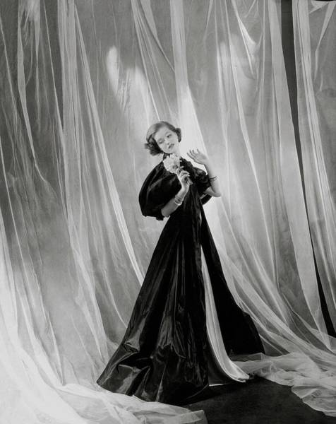 Photograph - Mary Taylor Wearing A Vionnet Dress by Cecil Beaton