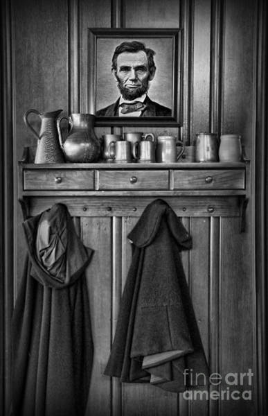 Wall Art - Photograph - Mary Todd Lincoln's Coat Rack by Lee Dos Santos
