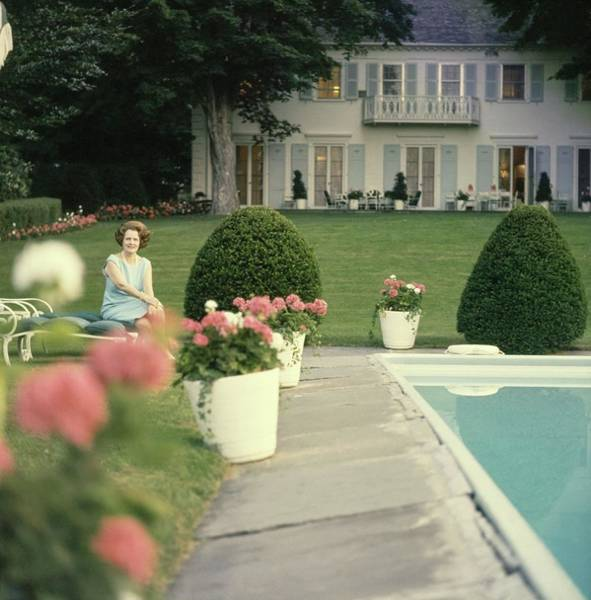 New York Landscape Photograph - Mary Woodard Lasker At Home by Horst P. Horst