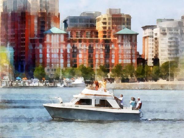 Photograph - Maryland - Cabin Cruiser By Baltimore Skyline by Susan Savad