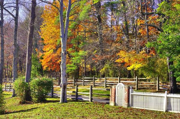 Monocacy Wall Art - Photograph - Maryland Country Roads - Meet Me By The Gate - Stronghold Sugarloaf Mountain Frederick County Md by Michael Mazaika
