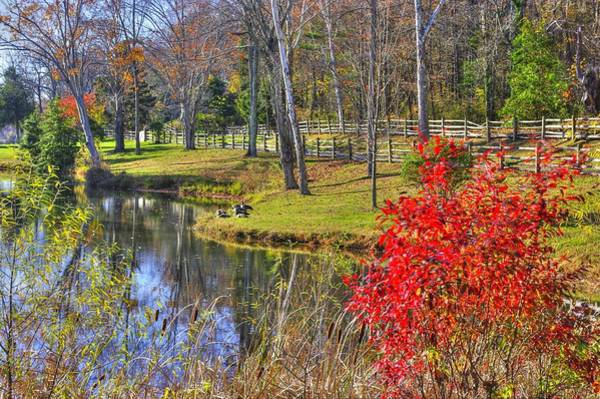 Monocacy Wall Art - Photograph - Maryland Country Roads - The Pond At Stronghold - Sugarloaf Mountain Frederick County Md by Michael Mazaika