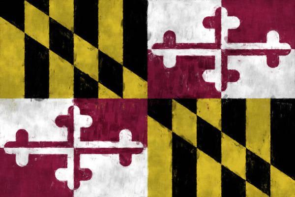 Wall Art - Digital Art - Maryland Flag by World Art Prints And Designs