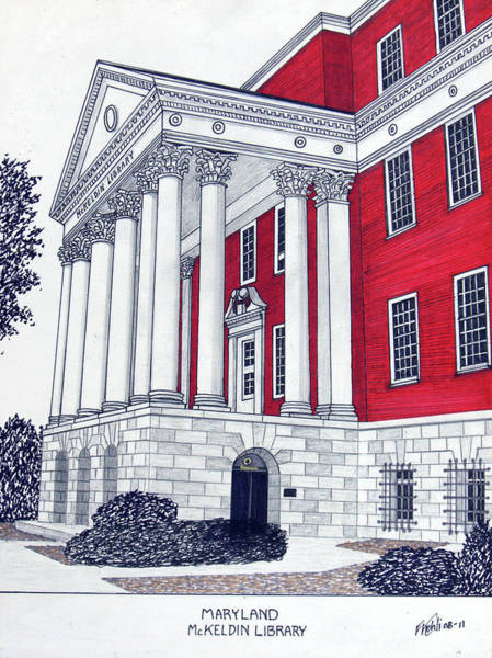 Wall Art - Drawing - Maryland by Frederic Kohli