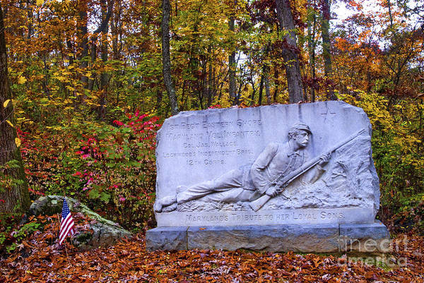 Photograph - Maryland Monument At Gettysburg by Paul W Faust -  Impressions of Light