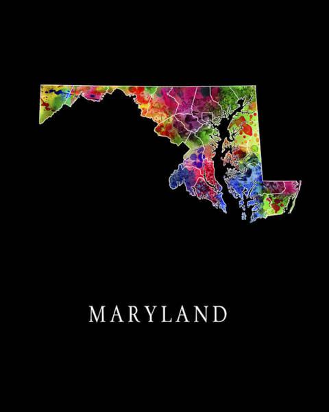 Wall Art - Digital Art - Maryland State by Daniel Hagerman