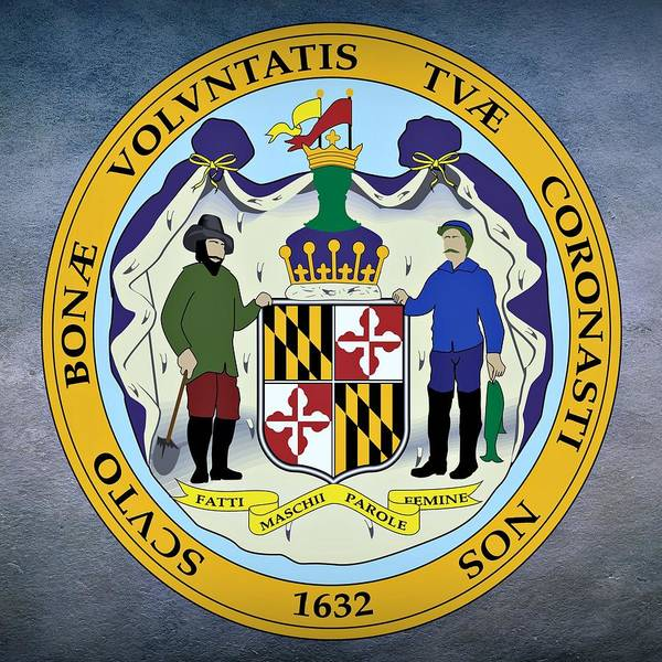 Digital Art - Maryland State Seal by Movie Poster Prints