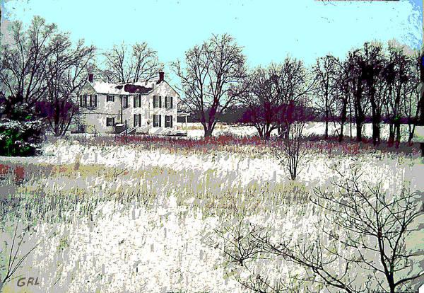 Painting - Maryland Winter Farm 2c Original Digital Art by G Linsenmayer