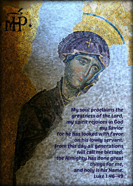 Mosaic Photograph - Mary's Magnificat by Stephen Stookey