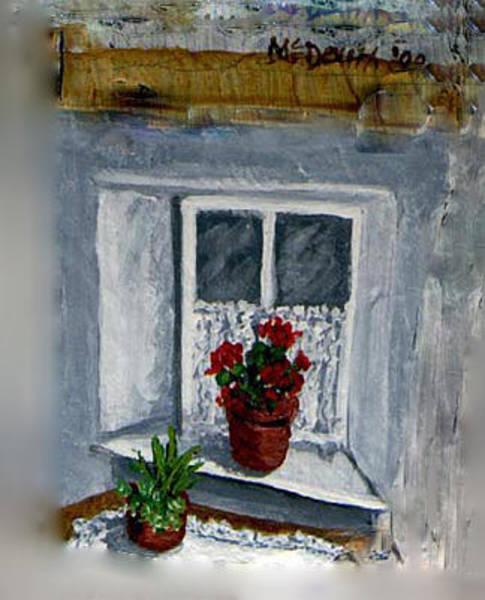 Doily Painting - Marys Window by Barbara McDevitt
