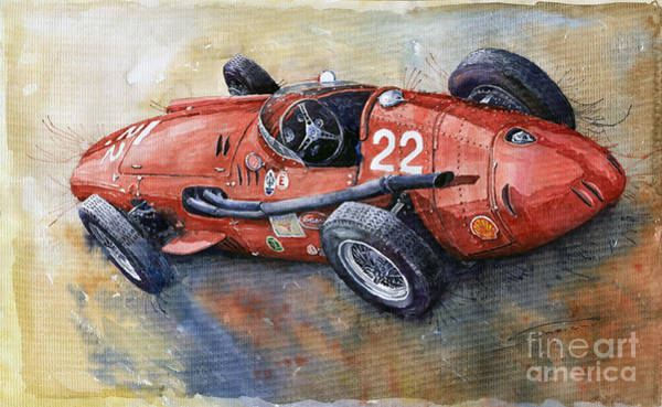 Car Painting - Maserati 250 F 1957  by Yuriy Shevchuk