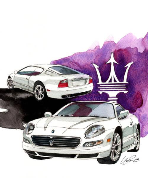 Maserati Painting - Maserati Gt by Yoshiharu Miyakawa