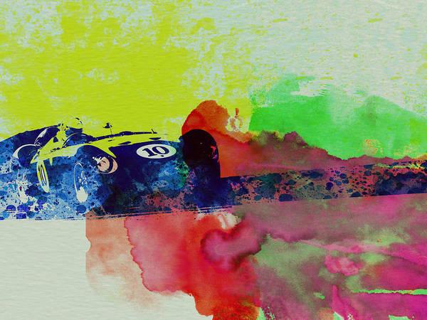 Car Painting - Maserati On The Race Track 2 by Naxart Studio