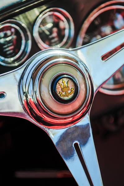 Photograph - Maserati Steering Wheel Emblem by Jill Reger