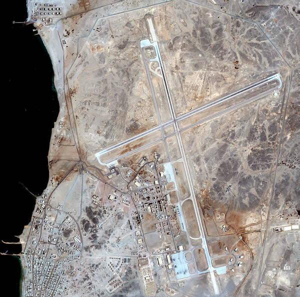 Military Air Base Photograph - Masirah Island Air Base by Geoeye/science Photo Library