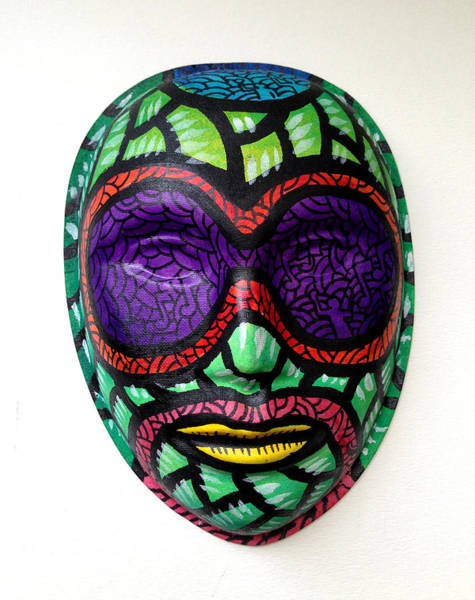 Mixed Media - Mask Apl D Ap by Marconi Calindas