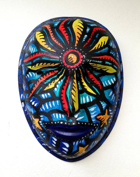 Mixed Media - Mask Filipinas At Araw by Marconi Calindas