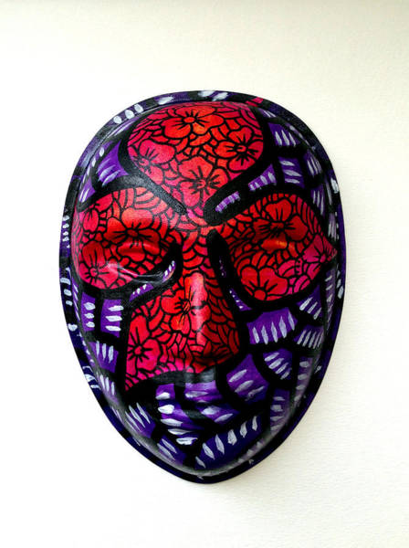 Mixed Media - Mask Flower by Marconi Calindas