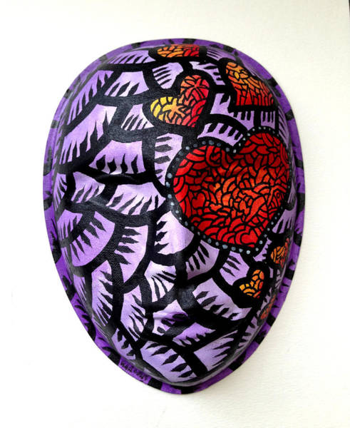 Mixed Media - Mask Hearts by Marconi Calindas