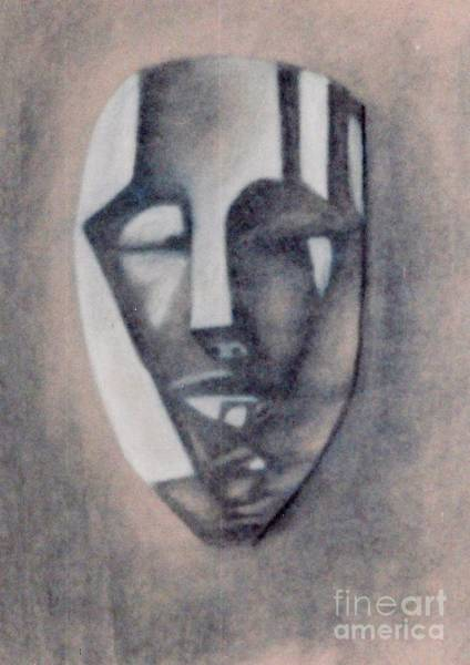 Drawing - Mask by Jon Kittleson