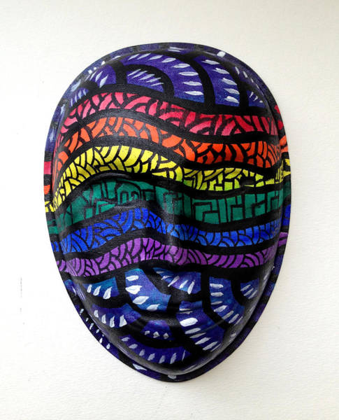 Mixed Media - Mask Lgbt Flag by Marconi Calindas