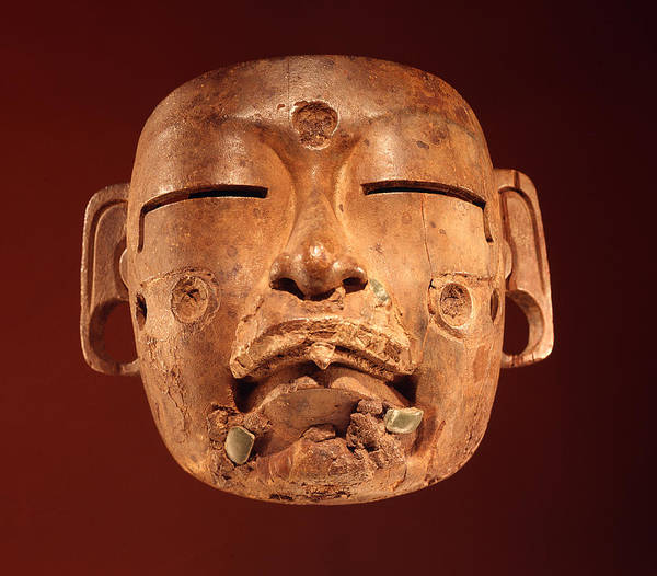 Mesoamerican Photograph - Mask, Olmec Culture Wood by Pre-Columbian