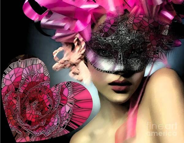 Digital Art - Masked by Catherine Lott