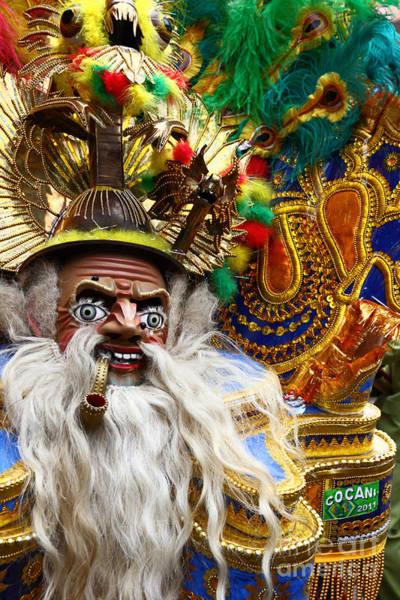 Photograph - Masked Morenada Dancer by James Brunker