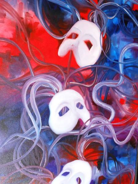 Frederick Morris Painting - Masks 2 by Lord Frederick Lyle Morris - Disabled Veteran