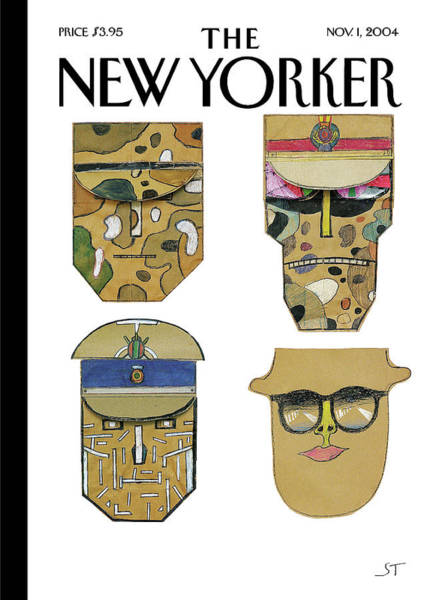 Military Painting - Masks by Saul Steinberg