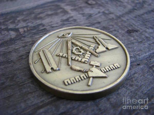 Wall Art - Photograph - Masonic Medal by Michael Krek