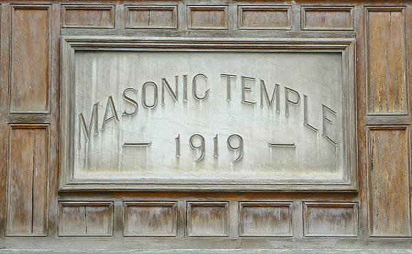 Fraternal Organizations Photograph - Masonic Temple  by Kenneth Summers