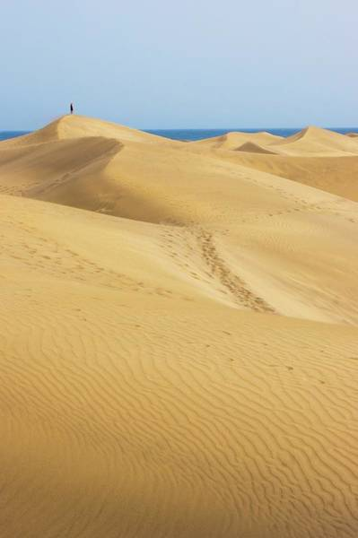 Playa Photograph - Maspalomas Sand Dunes. by Mark Williamson/science Photo Library