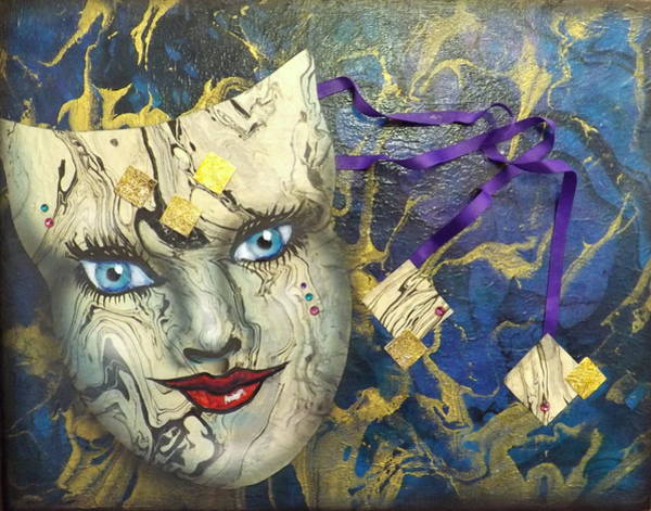 Painting - Masquerade Blues by Darren Robinson