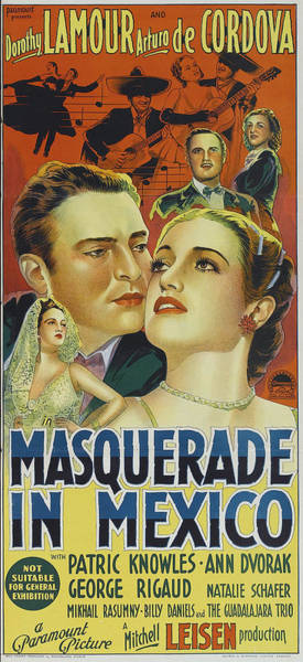 Wall Art - Photograph - Masquerade In Mexico, Us Poster Art by Everett