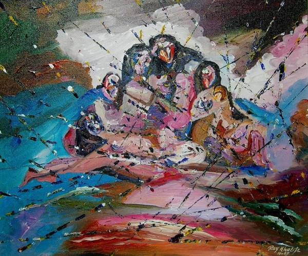 Painting - Mass Of Figures by Ray Khalife