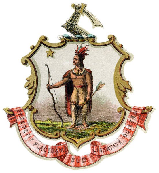 Wall Art - Painting - Massachusetts Coat Of Arms by Granger