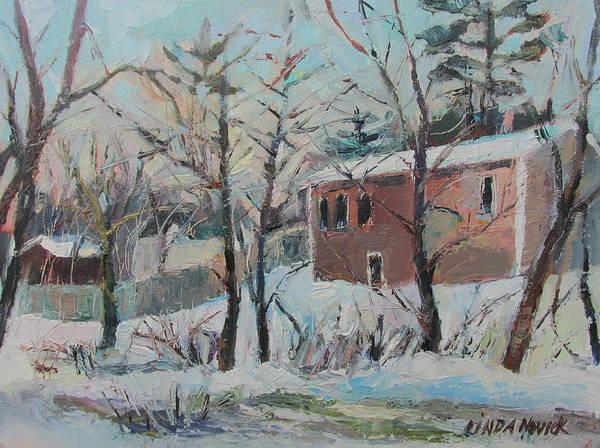 Massachusetts Snowfall Art Print