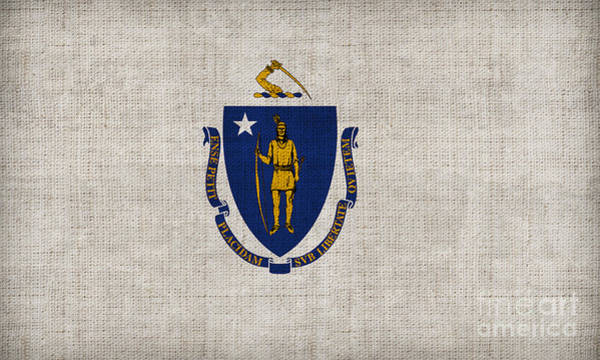1776 Painting - Massachusetts State Flag by Pixel Chimp
