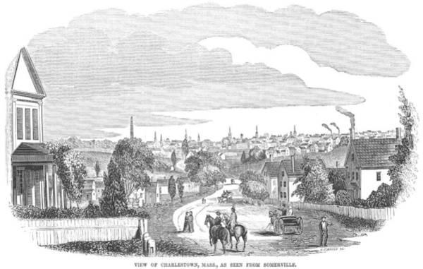 Neighborhood Painting - Massachusetts Town, 1854 by Granger