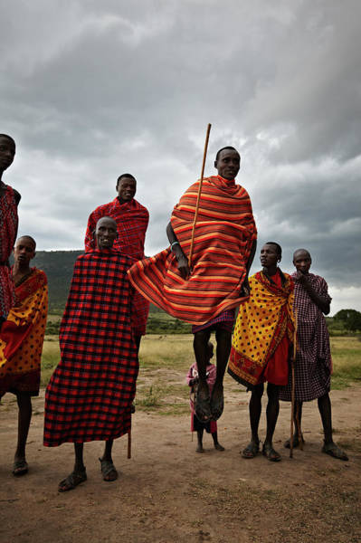 Candid Photograph - Massai Tribe by Niels Busch