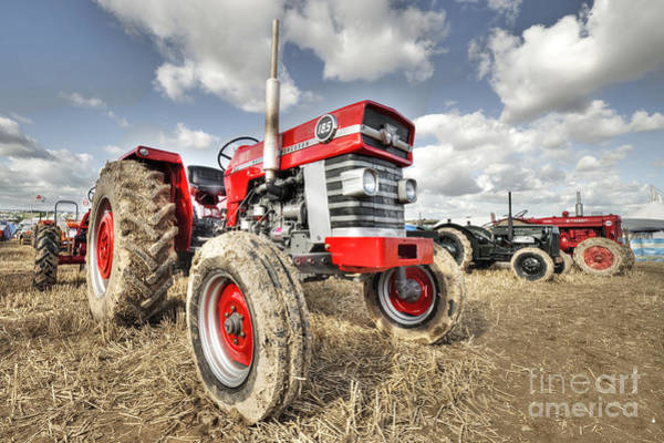 Traction Photograph - Massey 185  by Rob Hawkins