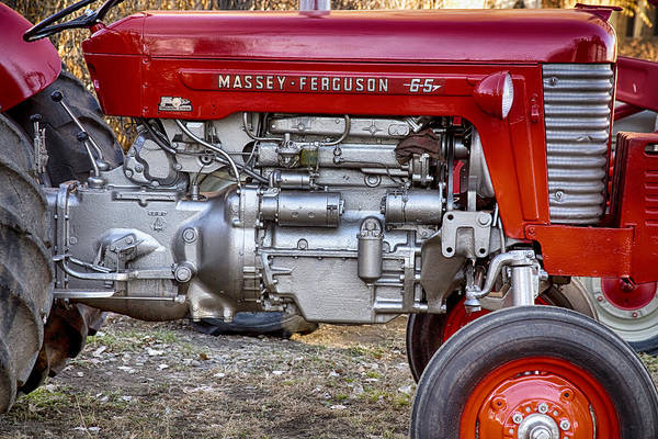 Photograph - Massey - Feaguson 65 Engine by James BO Insogna