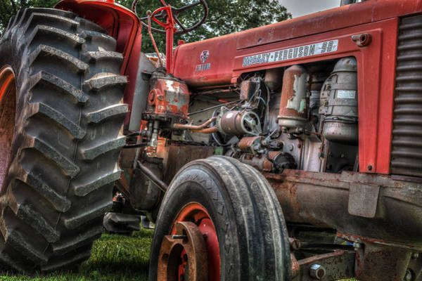 Photograph - Massey Ferguson Antique Tractor by Bill Wakeley