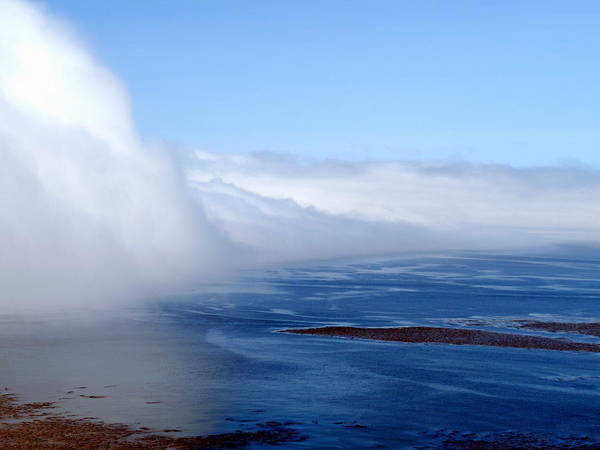 Photograph - Massive Fog Bank Over Ocean by Jeff Lowe