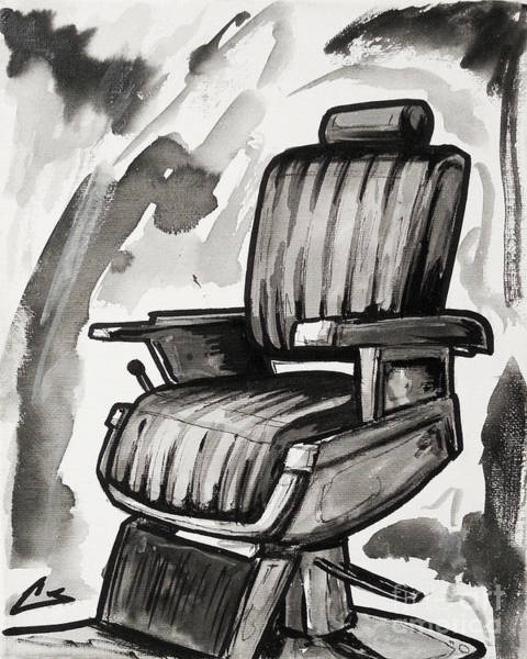 Barbershop Wall Art - Painting - Master Chair by Shop Aethetiks
