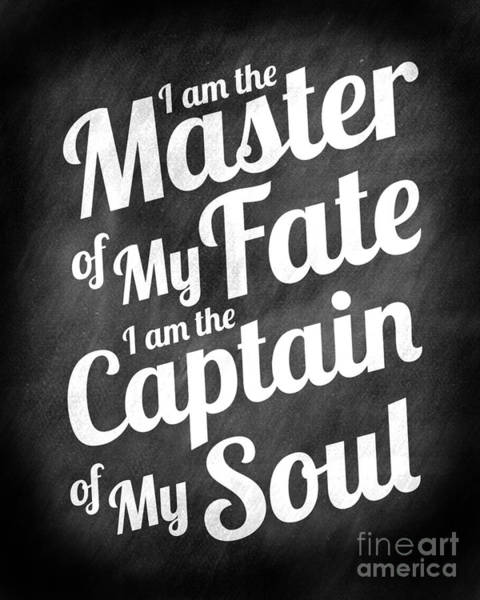Wall Art - Digital Art - Master Of My Fate - Chalkboard Style by Ginny Gaura