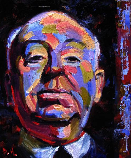 Wall Art - Painting - Master Of Suspense by Debra Hurd