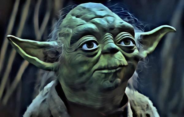 Star Wars Wall Art - Painting - Master Yoda by Florian Rodarte